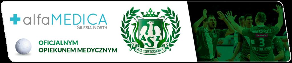Alfamedica oficjalny opiekun medyczny AZS Częstochowa