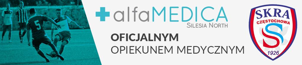 Alfamedica oficjalny opiekun medyczny Skra Częstochowa